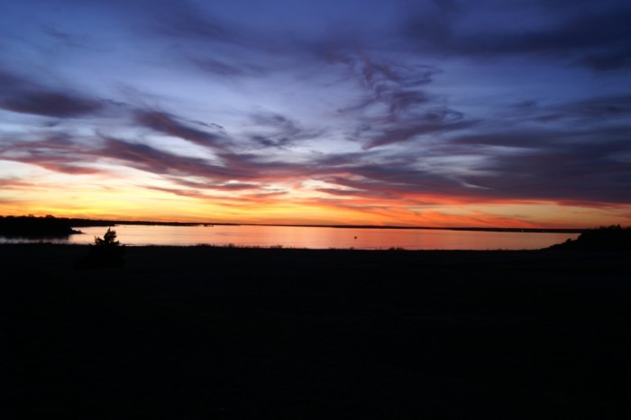 6. Something everyone should do at least once is admire  Lake Somerville's lovely Texas sunset.