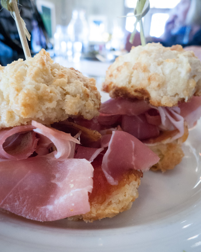 13. Country ham biscuits