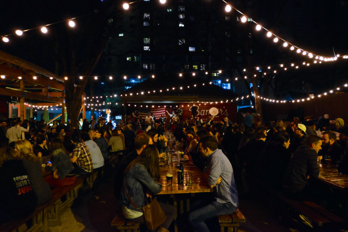 14. The communal crowds that gather at Banger's every night for some good eats and live music.