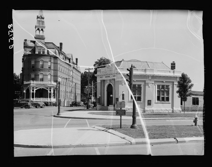 12. In modern Dover, there's a beautiful flower bed at the 'point' where Kings Highway and South State Street meet. In the Great Depression, the Hotel Richardson stood at that point and was a swanky place for those with the means to stay overnight in the capital.
