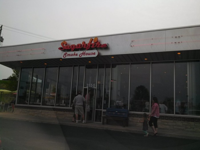 18.  Highest rated restaurant in St. Charles:  Sugarfire Smoke House