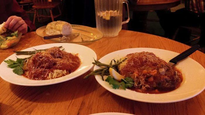 Enjoy dinner at Marie's Italian Restaurant.