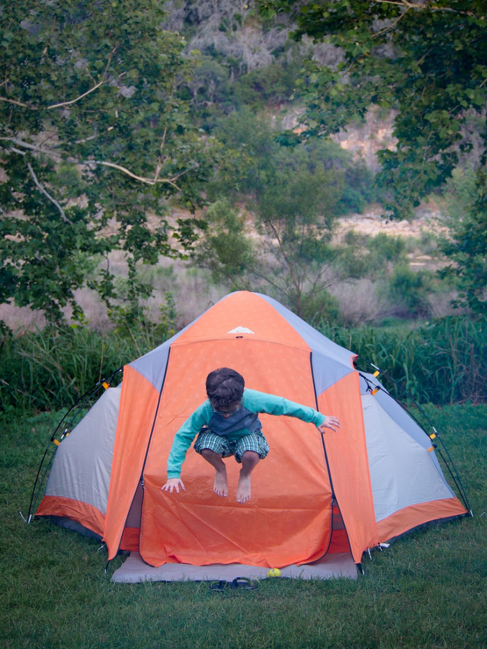 6. Capture the best memories with the kids at Colorado Bend State Park Campground.