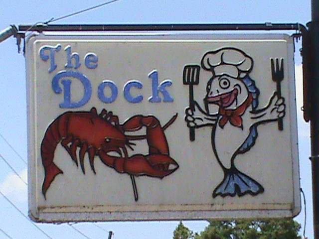 Dinner at The Dock, Lake Providence
