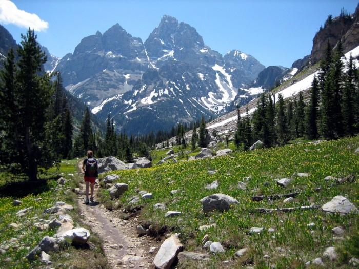10. Wyoming has over 8,500 miles of hiking trails.