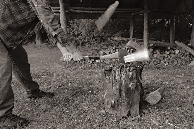 2. We've grown up having to chop enough wood to keep the house warm all winter.