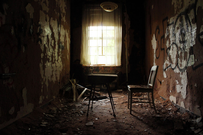 10. Abandoned Forest Haven sets the tone for a chilling horror flick.