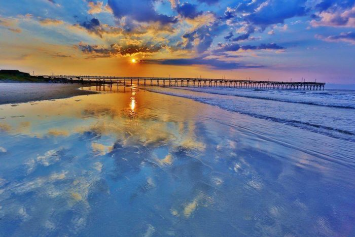 3. Beautiful blue sunset reflections at Sunset Beach. I feel so calm when I look at this picture.