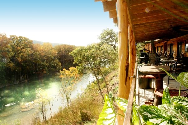 6. Hideout on the Horseshoe Cabins offers serene views of the river and is known to be a great wedding venue.