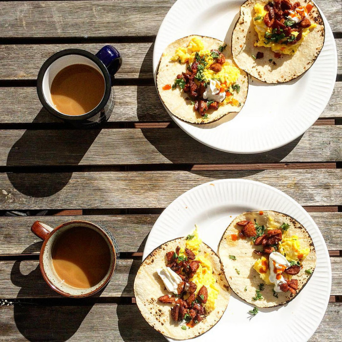 3. Go pick up (or make) some delicious, authentic breakfast tacos. Extra hot sauce, please.