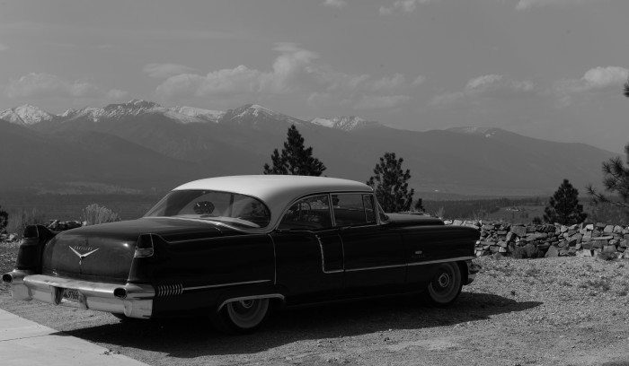 7. A '56 Cadillac overlooking Stevensville.