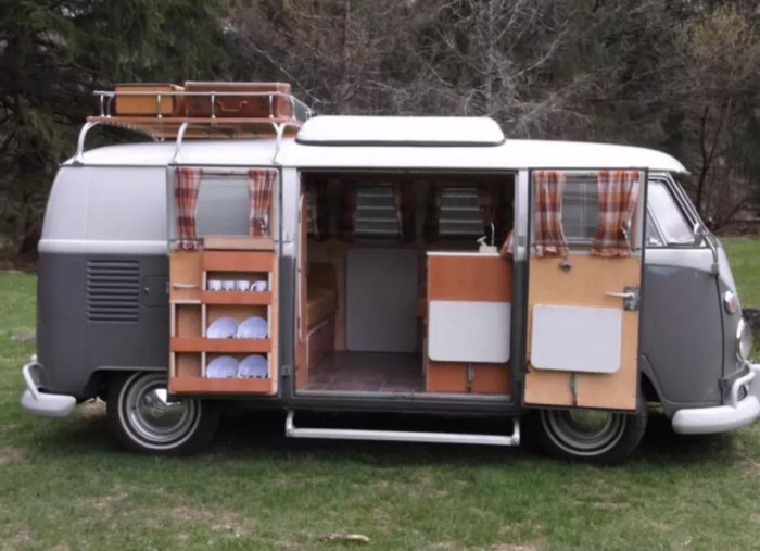 3. A 1965 VW Bus with all the comforts of home ...