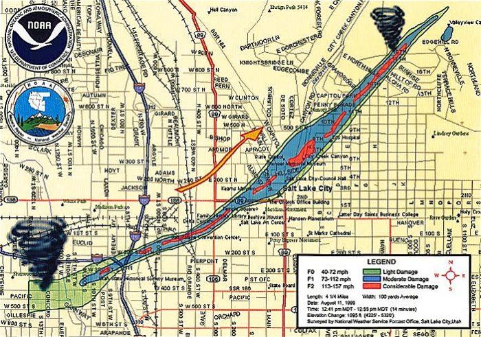 1999_Salt_Lake_City_Tornado_path