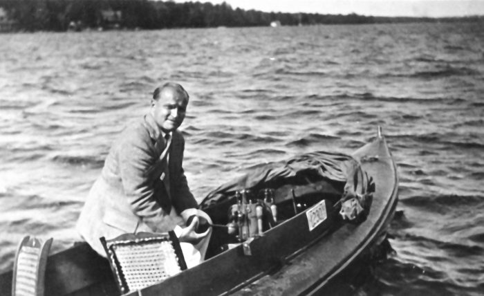 Boats were smaller, and boating attire much more fancy in the 1930s.