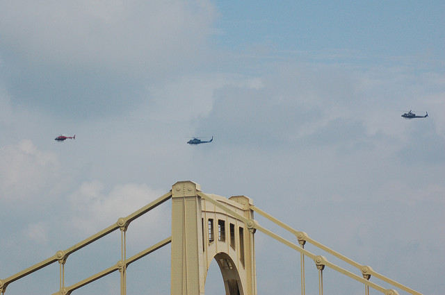 2. Board a helicopter for a bird's eye view of Pittsburgh.