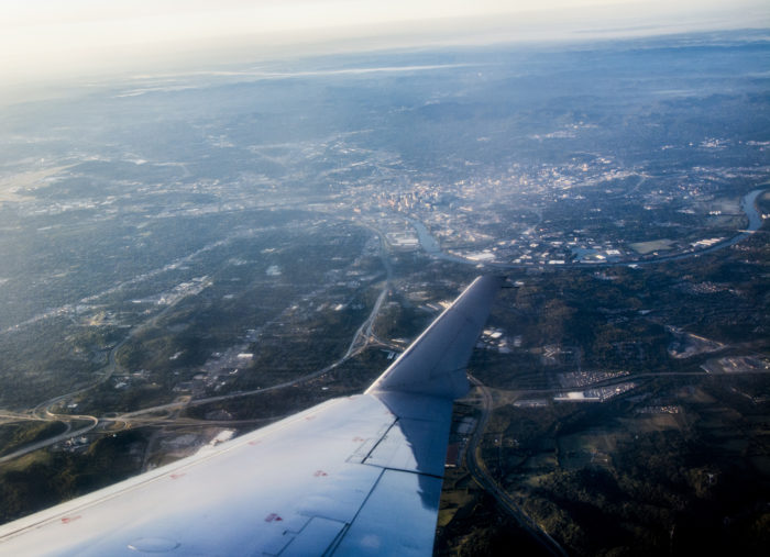 1. Even the wing of the plane can't get it down - what an adventure!