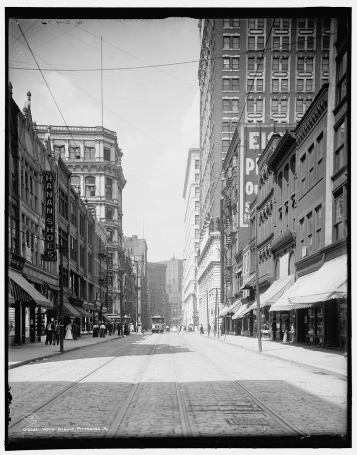 Wood Street in Downtown Pittsburgh is still a popular hub of activity that leads to the Cultural District.