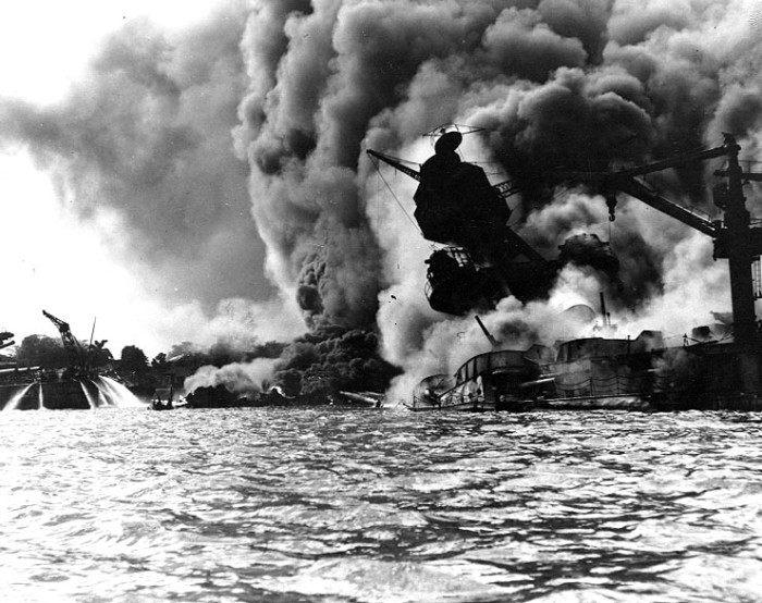 2. Approximately 2,400 Americans were killed, and another 1,170 were wounded, 1,100 of those who died were stationed on the USS Arizona, pictured below.