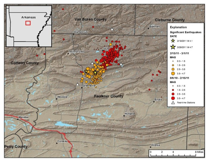 4. In 2013, more than 500 earthquakes rocked and rolled their way through the small town of Guy.