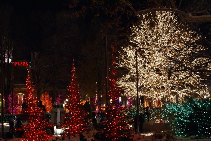 6. The lights at Temple Square.