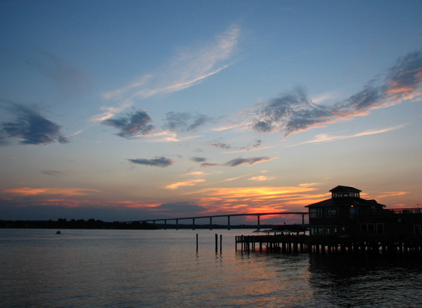 ...Followed by watching the sunset over the Patuxent River.