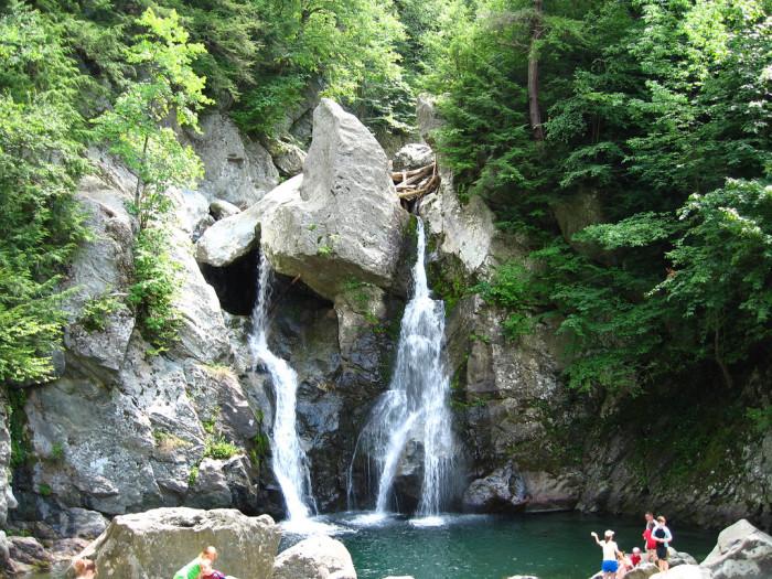 3. Bash Bish Falls, Mount Greylock Reservation. About 1 mile.