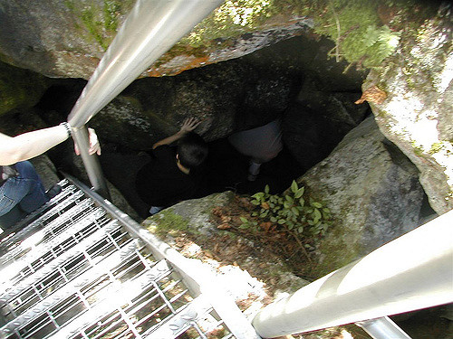 5. You can't be claustrophobic if you're visiting New Hampshire caves!