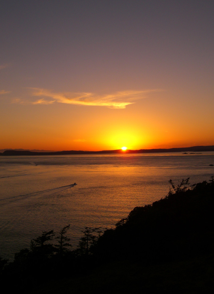 9. The sunsets here are second to none.
