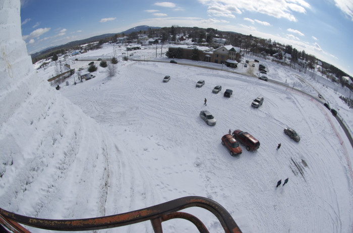 9. Anyone remember when Bethel, Maine was the site of the World's Largest Snow Woman? Here's the view from the top!