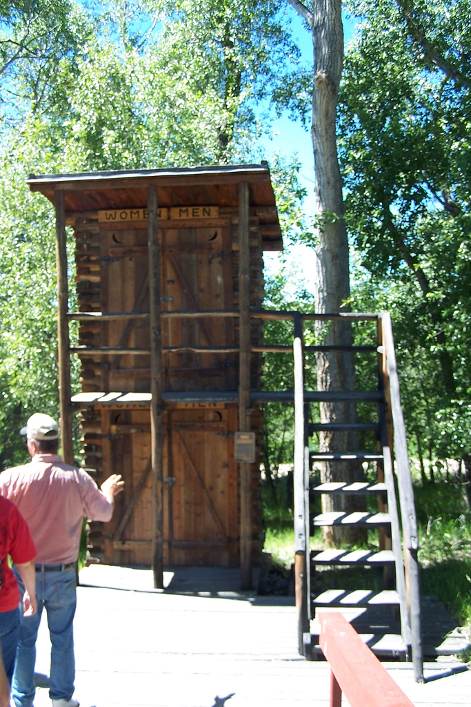 7. Two-Story Outhouse