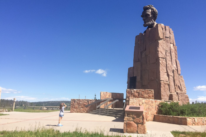 9. Giant Head Of Abraham Lincoln