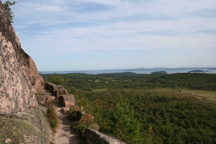 10. The Dorr Mountain trail in Acadia is probably not best for those with a fear of heights and very small paths!