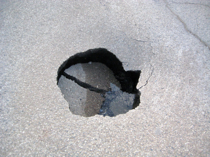 6) Either complaining about potholes, or being amazingly impressed by smooth roads.