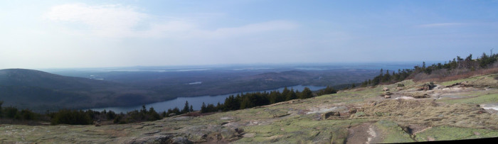 7. Wouldn't want to slip at the Blue Hill Overlook on Cadillac Mountain.
