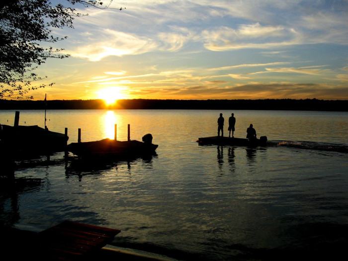 2. Gardner Lake is small but aesthetically stunning, with access in Salem, Montville and Bozrah.