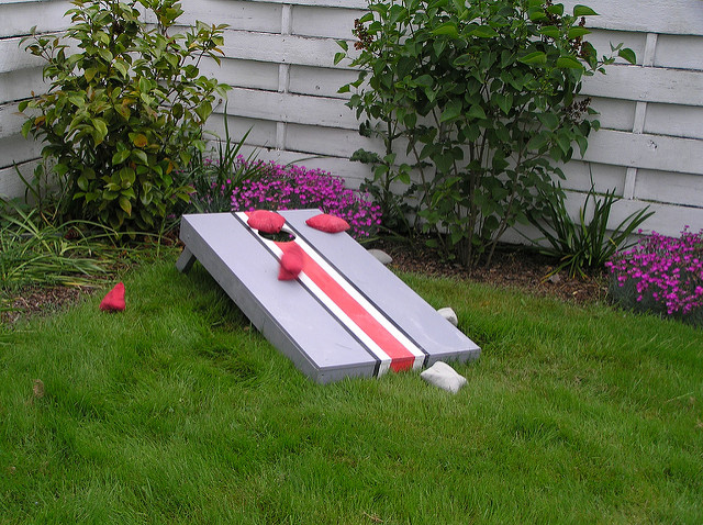 4. A cornhole game set.
