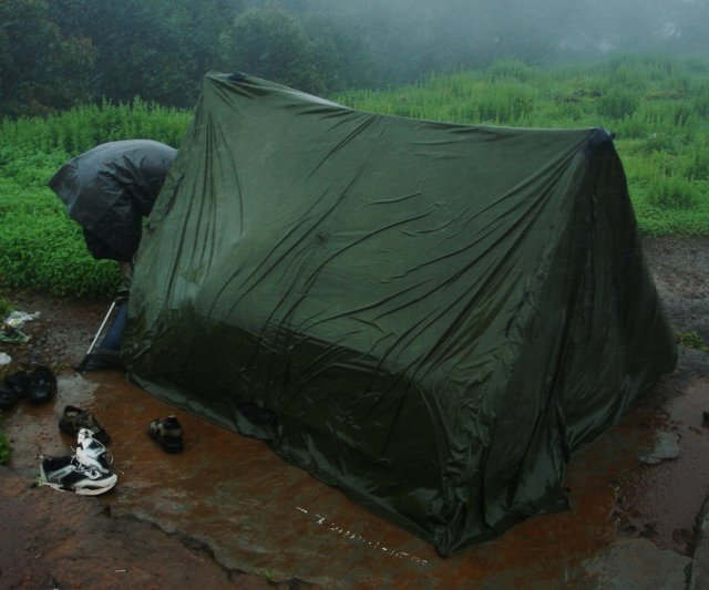 11. Going camping without waterproof gear and tarps