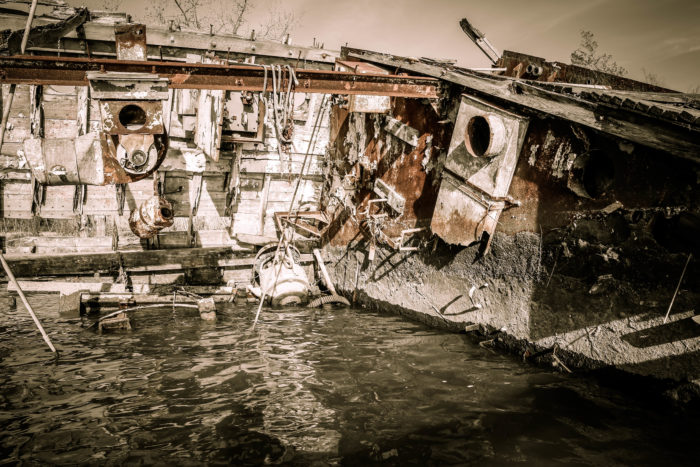 6. The ghost ships scattered throughout Mallows Bay make for great detailed images that are oh so haunting.