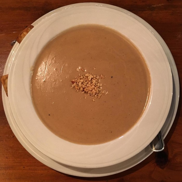 11. Some of the rustic restaurants provide colonial recipes such as Carolina Fish Muddle, Shepherd's Pie, and Peanut Soup (pictured below).