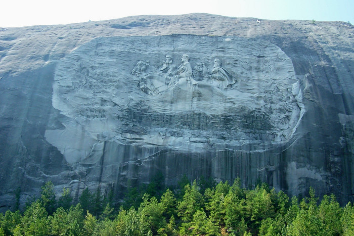 2. Stone Mountain Park Confederate Memorial Carving—1000 Robert E. Lee Blvd Stone Mountain, GA 30083