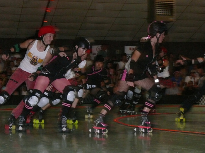 1. The roller derby in Austin will have your nerves on edge watching the brutal competition!