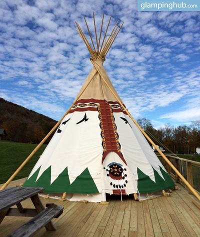 6. Solar-Powered Luxury Tipi, Blue Ridge Mountains