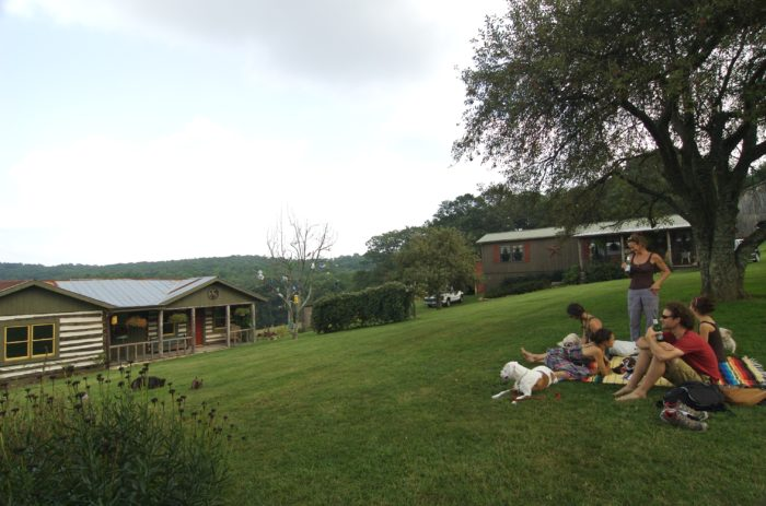 Sit out on the lawn and take it all in.
