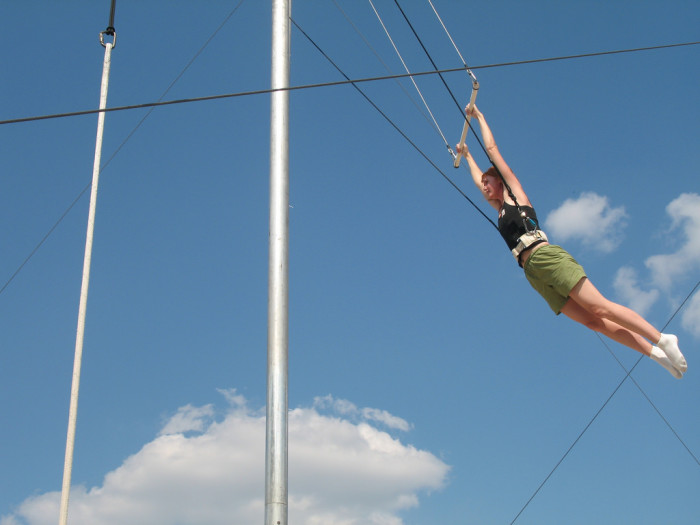11. Catching an amazing thrill at Trapeze Texas.