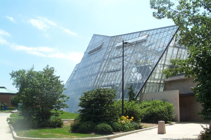 The glasshouse features popular exhibits such as the Madagascar room and the Costa Rica rainforest.