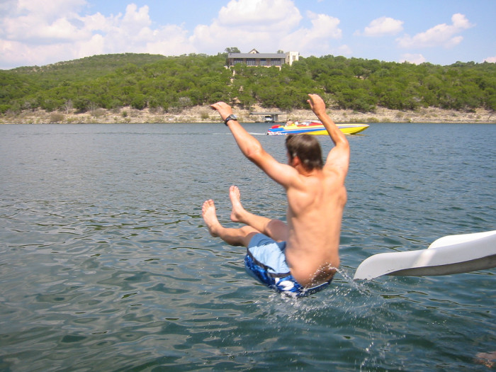 4. Ahh...the famous Devil's Cove - A very popular hangout spot on Lake Travis.
