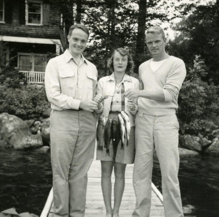 Fishing was still a popular pastime for these vacationers in Wolfeboro in the early 1950s.