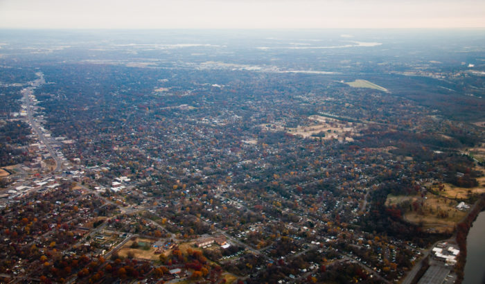 2. East Nashville looks perfectly autumnal in this shot.