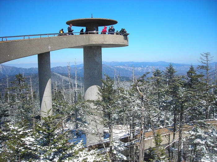 3. Clingman's Dome is the highest point in the mountains.