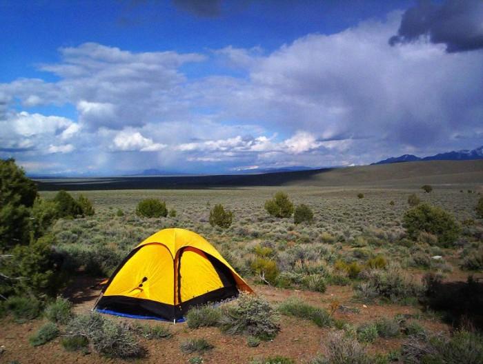 12. Go camping in the Nevada desert.